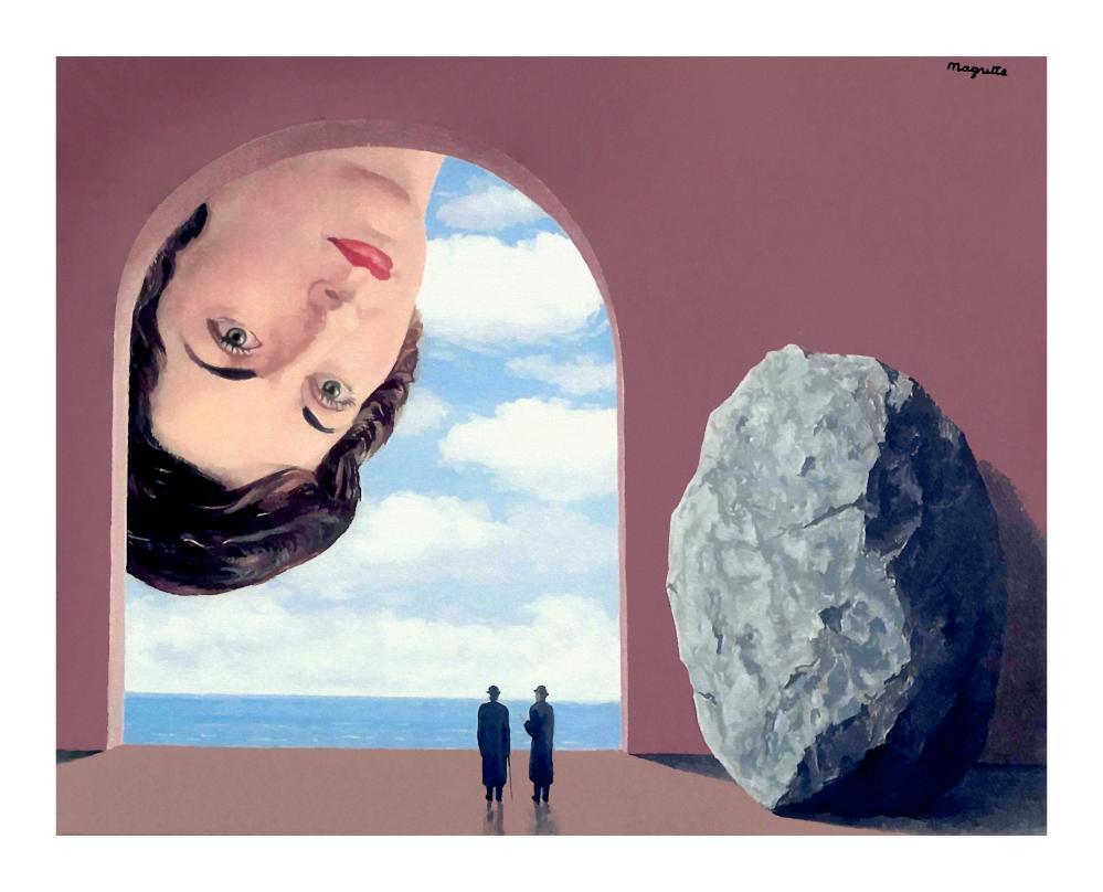 Rene Magritte Stephy Langui Portresi, Kanvas Tablo, René Magritte, kanvas tablo, canvas print sales