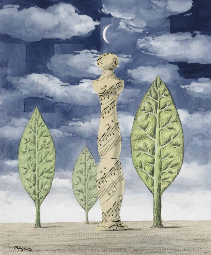 Rene Magritte Doğa ve Aşk, Kanvas Tablo, René Magritte, kanvas tablo, canvas print sales