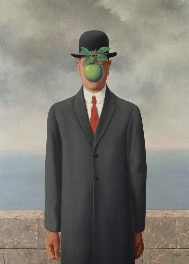 Rene Magritte İnsan Oğlu, Kanvas Tablo, René Magritte, kanvas tablo, canvas print sales