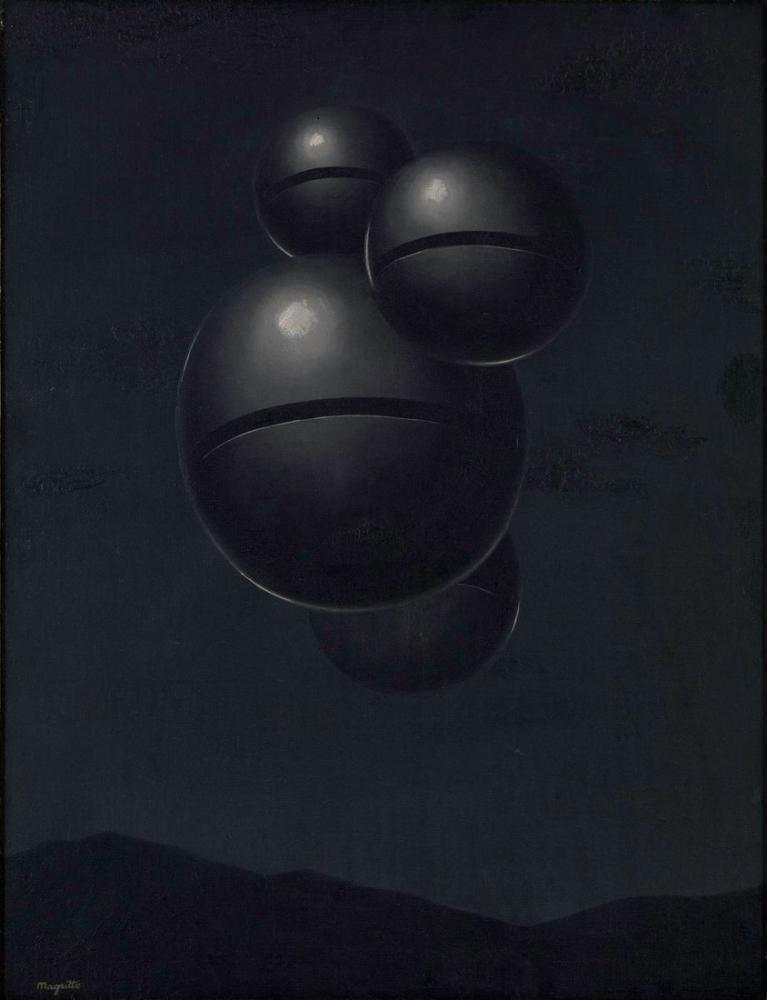 Rene Magritte Deniz Kıyısında Kompozisyon, Kanvas Tablo, René Magritte, kanvas tablo, canvas print sales