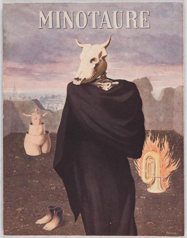 René Magritte Minotaure, Kanvas Tablo, René Magritte, kanvas tablo, canvas print sales