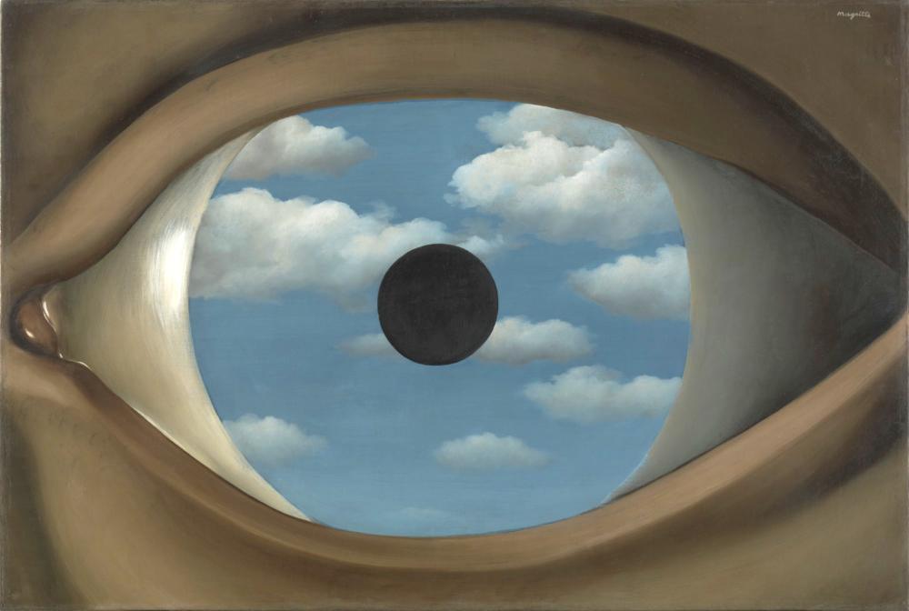 Rene Magritte Yanlış Ayna, Kanvas Tablo, René Magritte, kanvas tablo, canvas print sales