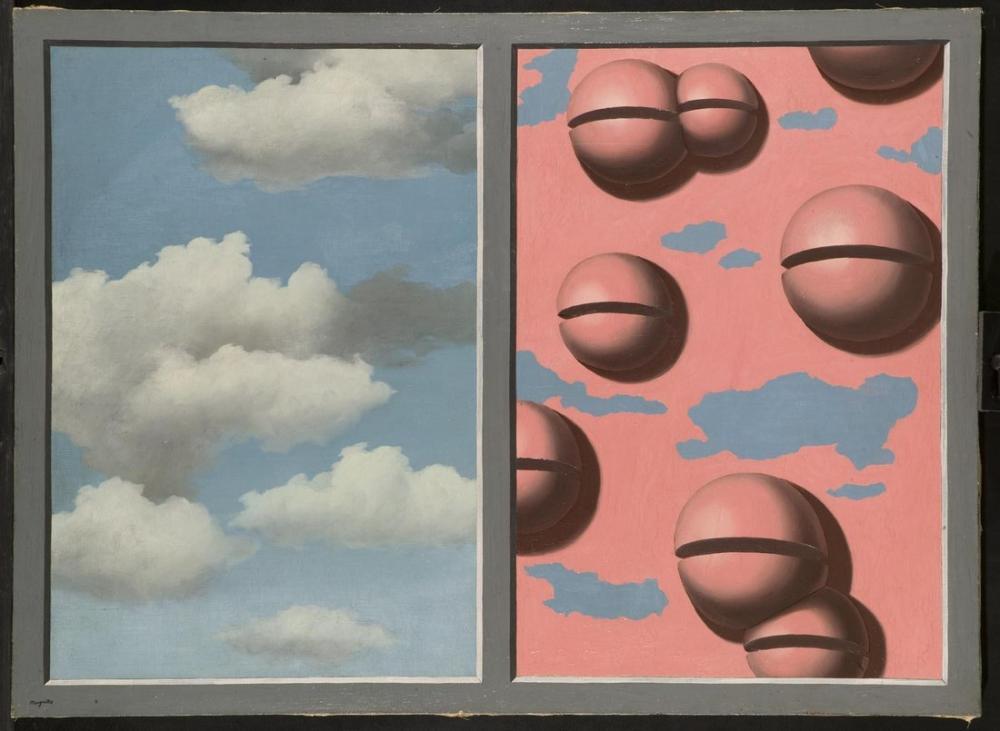 Rene Magritte Pembe Çan Lambskins Gökyüzü, Kanvas Tablo, René Magritte, kanvas tablo, canvas print sales