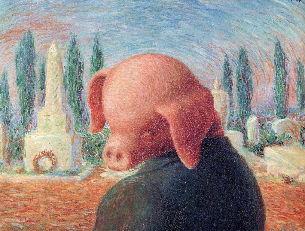 Rene Magritte Şans İnme, Kanvas Tablo, René Magritte, kanvas tablo, canvas print sales