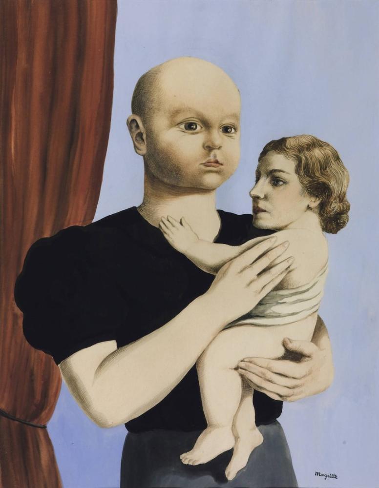Rene Magritte Geometrinin Ruhu, Kanvas Tablo, René Magritte, kanvas tablo, canvas print sales