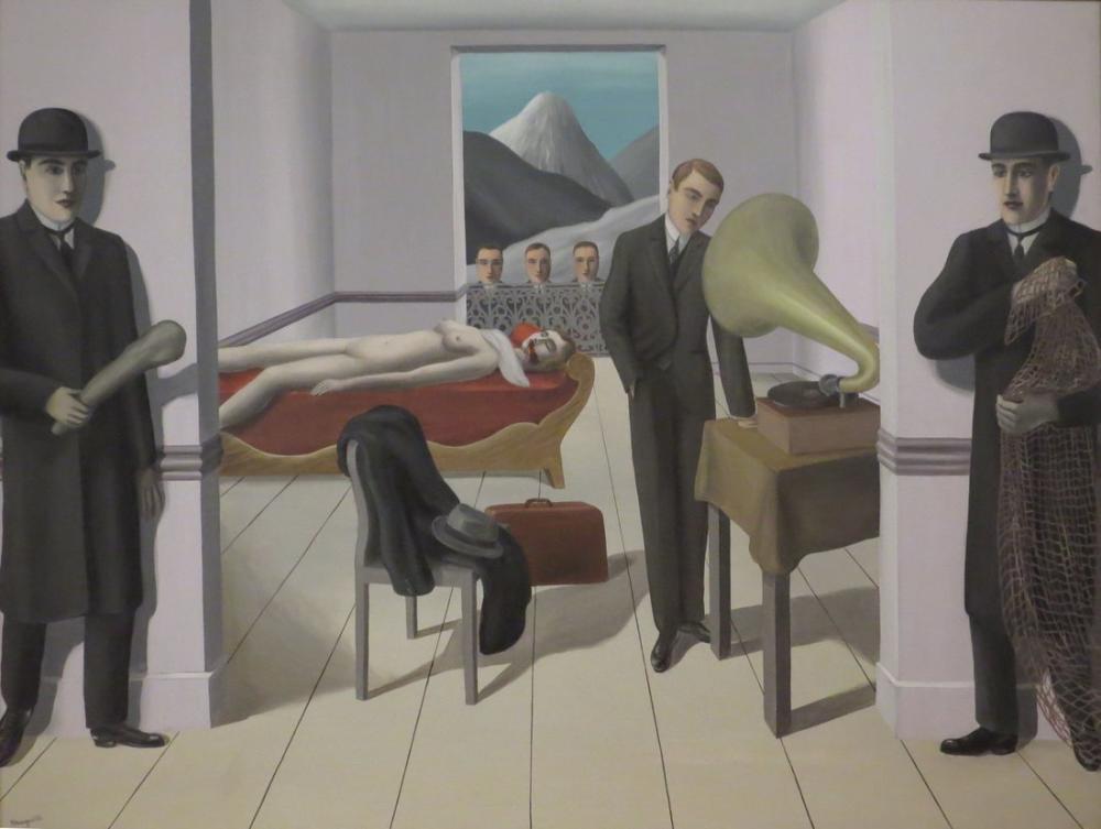 Rene Magritte Tehdit Edilen Suikastçı, Kanvas Tablo, René Magritte, kanvas tablo, canvas print sales