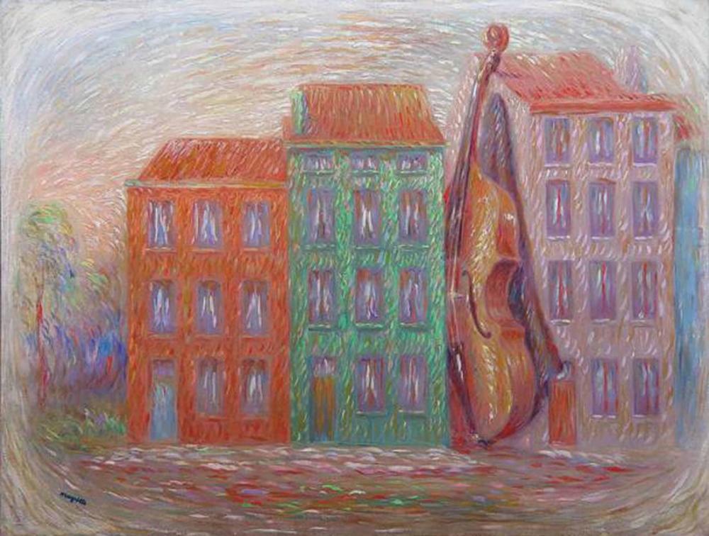 Rene Magritte Yeşil Ev, Kanvas Tablo, René Magritte, kanvas tablo, canvas print sales
