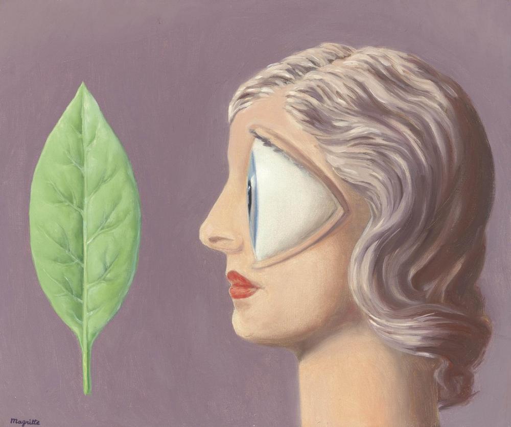 Rene Magritte Macon Kadını, Kanvas Tablo, René Magritte, kanvas tablo, canvas print sales