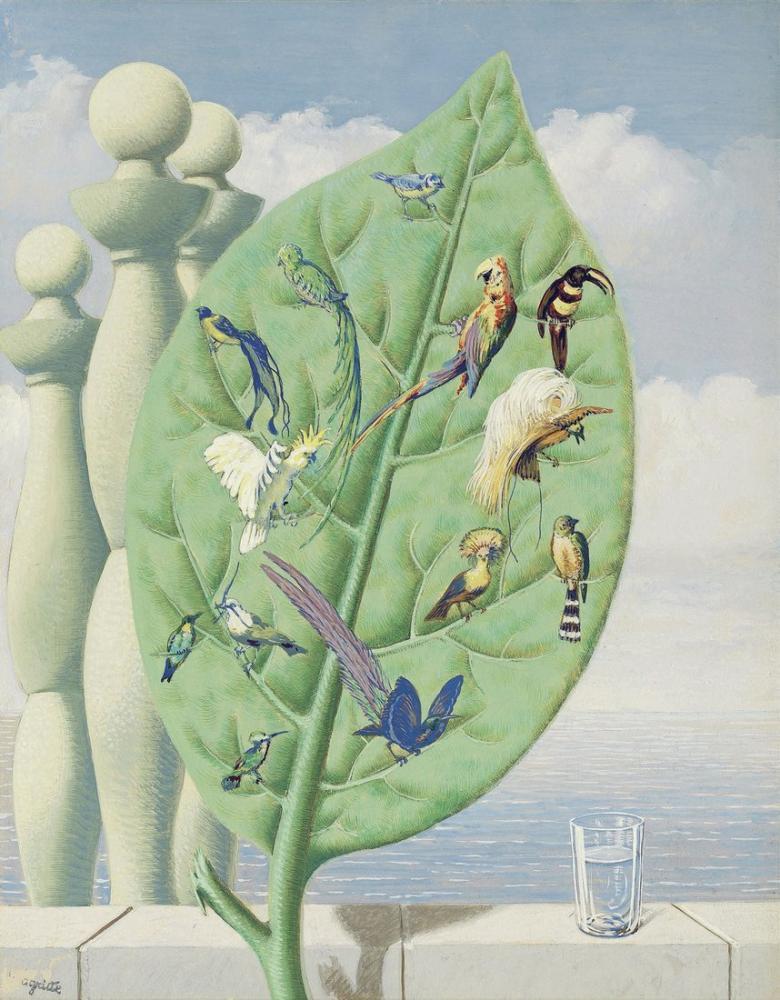 Rene Magritte İç Bakış, Kanvas Tablo, René Magritte, kanvas tablo, canvas print sales