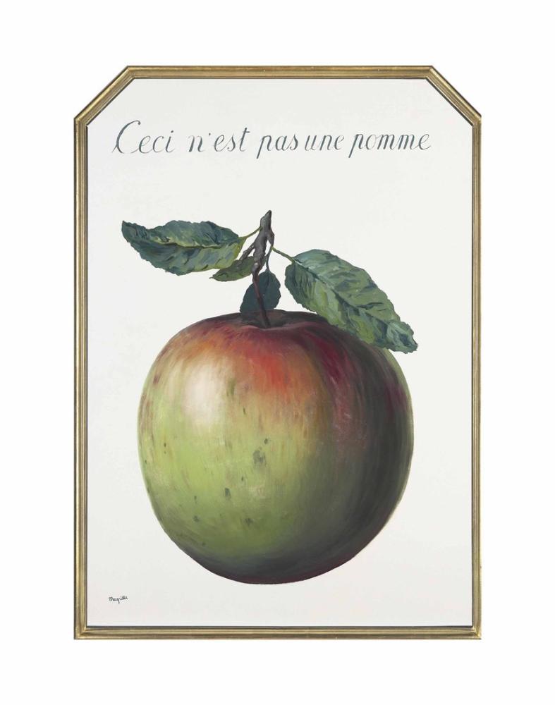 Rene Magritte Bu Yuva Bir Elma Değil, Kanvas Tablo, René Magritte, kanvas tablo, canvas print sales