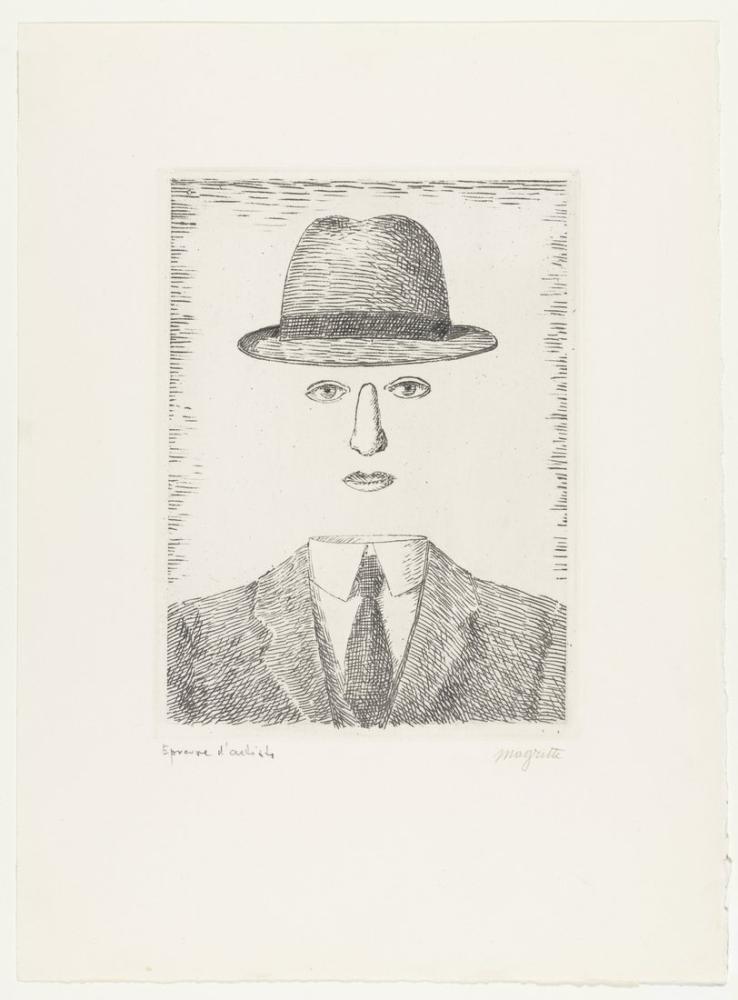 Rene Magritte Baucis Manzarası, Kanvas Tablo, René Magritte, kanvas tablo, canvas print sales