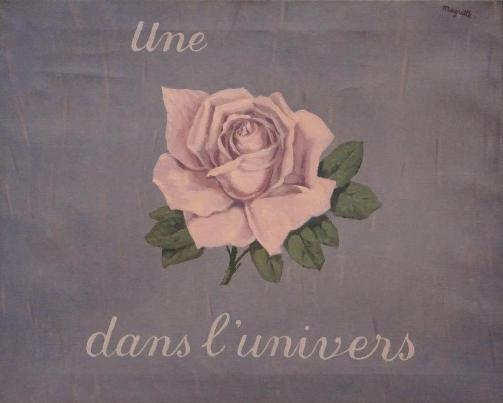 Rene Magritte Üniverilerde Bir Gül, Kanvas Tablo, René Magritte, kanvas tablo, canvas print sales
