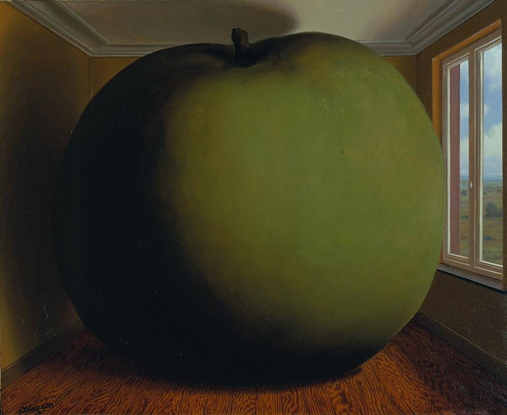 Rene Magritte Dinleme Odası ve Elma, Kanvas Tablo, René Magritte, kanvas tablo, canvas print sales