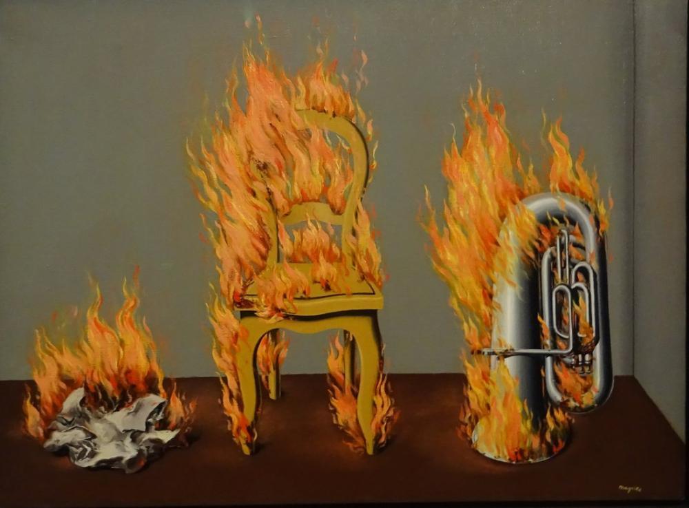 René Magritte Ateş Suyu, Kanvas Tablo, René Magritte, kanvas tablo, canvas print sales
