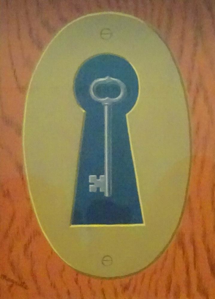 René Magritte Anahtar ile Kompozisyon, Kanvas Tablo, René Magritte, kanvas tablo, canvas print sales
