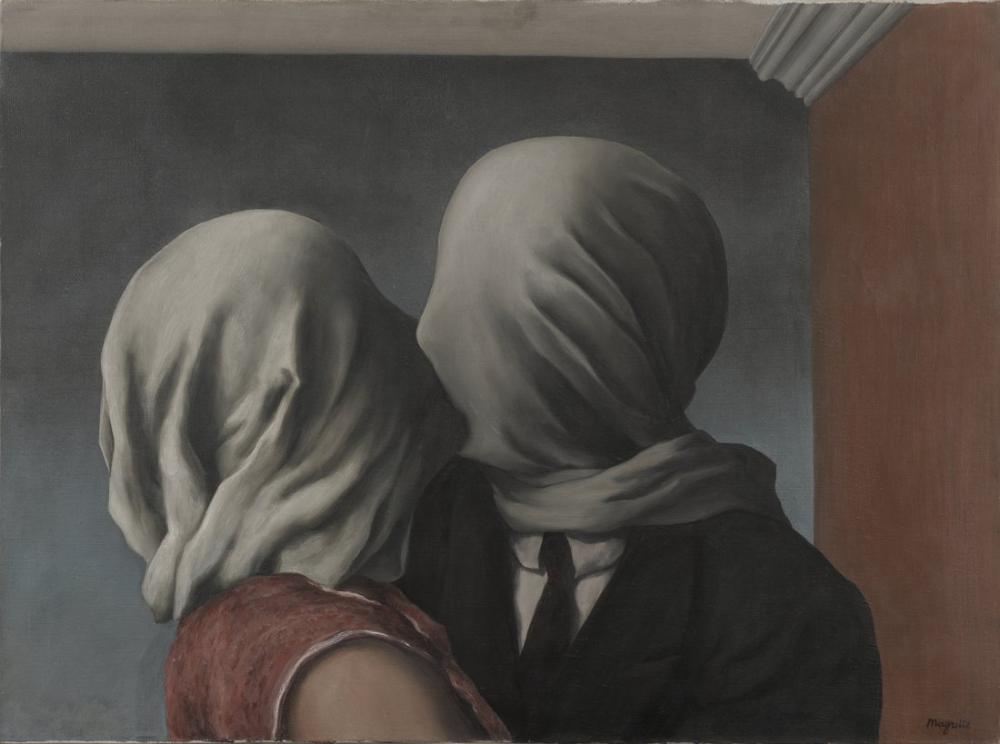 René Magritte Aşıklar, Kanvas Tablo, René Magritte, kanvas tablo, canvas print sales