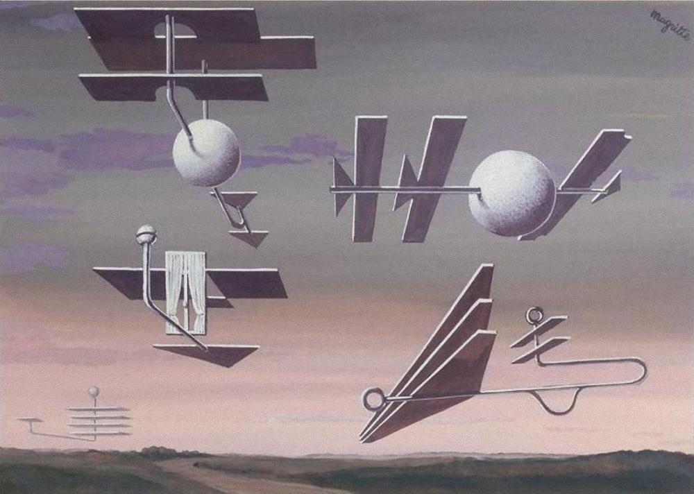 René Magritte Kara Bayrak, Kanvas Tablo, René Magritte, kanvas tablo, canvas print sales