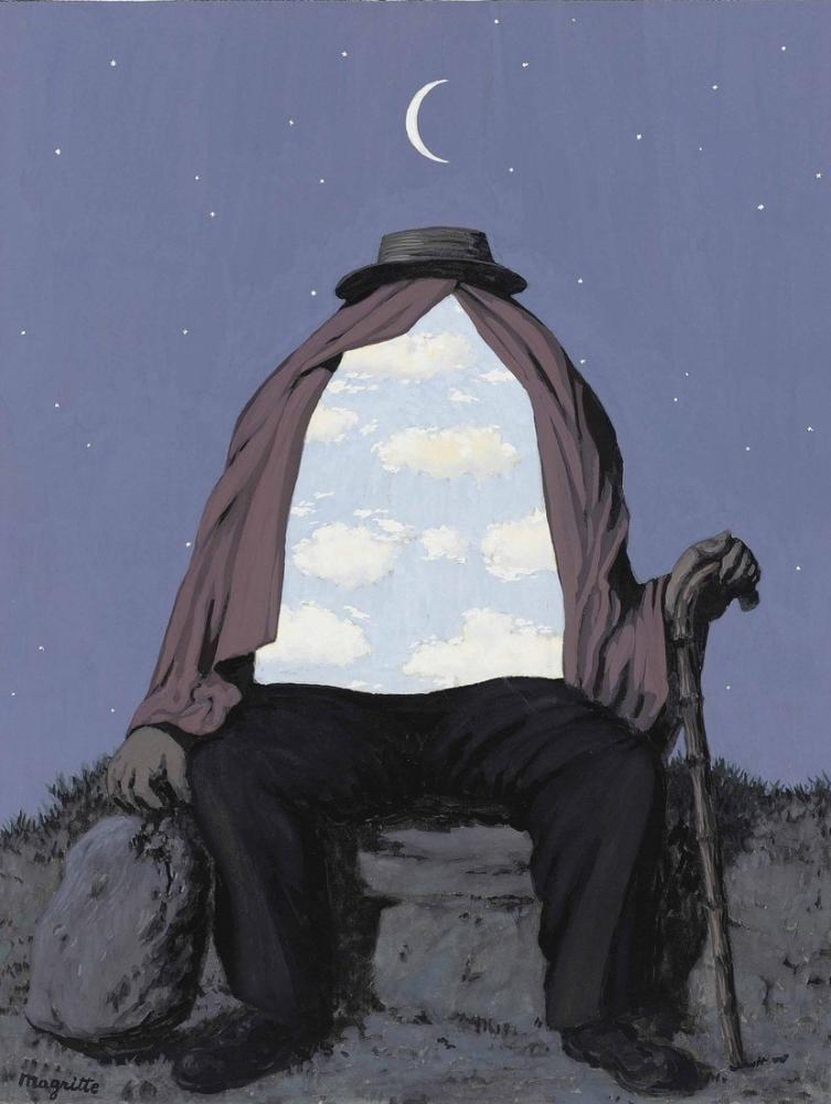 Rene Magritte Terapist, Kanvas Tablo, René Magritte, kanvas tablo, canvas print sales