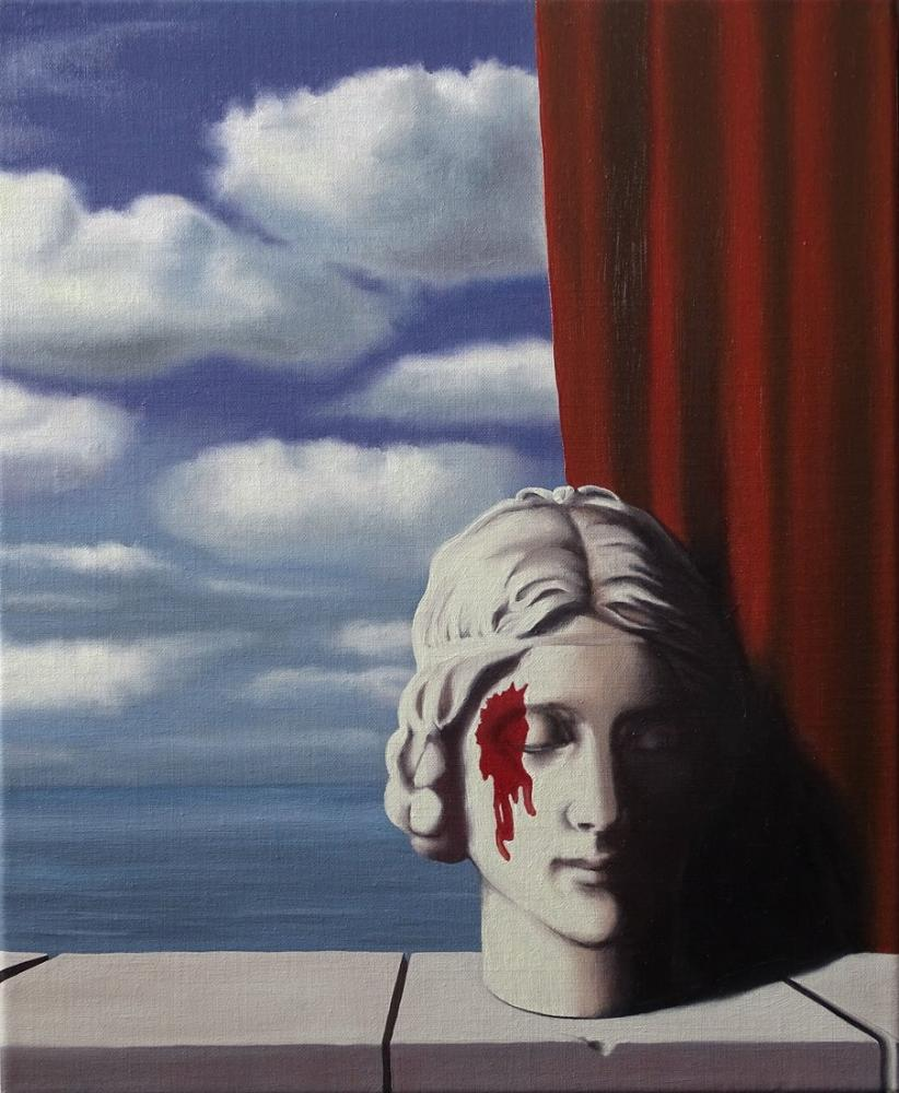 Rene Magritte Anısına, Kanvas Tablo, René Magritte, kanvas tablo, canvas print sales