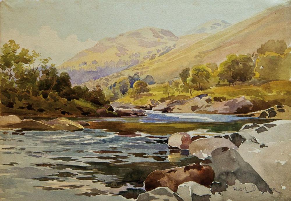 Rosa Bonheur, Nehir Manzarası, Kanvas Tablo, Rosa Bonheur, kanvas tablo, canvas print sales