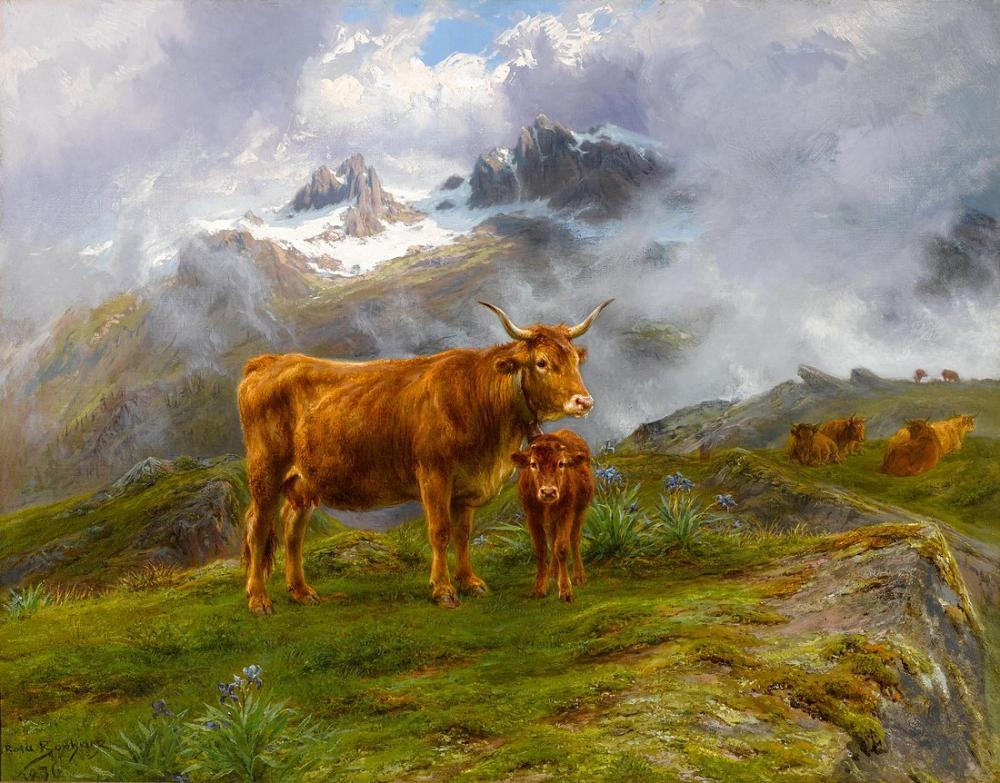 Rosa Bonheur, Yayla Sığır, Kanvas Tablo, Rosa Bonheur, kanvas tablo, canvas print sales