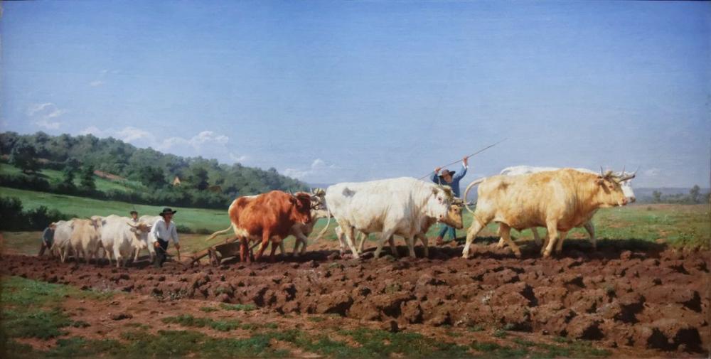 Rosa Bonheur, Çiftçilik Nivernais, Kanvas Tablo, Rosa Bonheur, kanvas tablo, canvas print sales