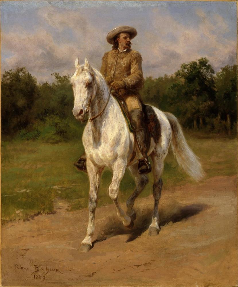 Rosa Bonheur, Col William F Cody nin Portresi, Kanvas Tablo, Rosa Bonheur, kanvas tablo, canvas print sales