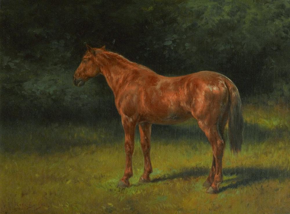 Rosa Bonheur, Kırmızı Kula At, Kanvas Tablo, Rosa Bonheur, kanvas tablo, canvas print sales