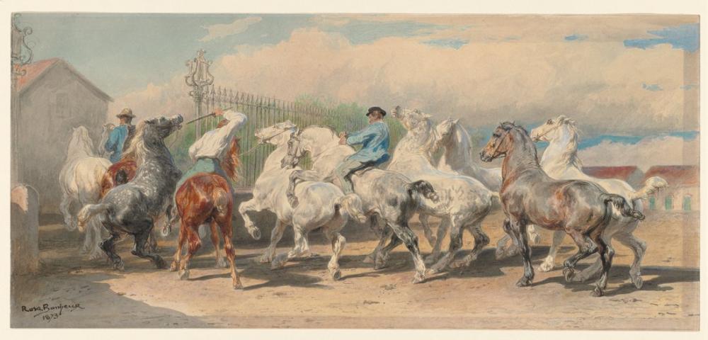 Rosa Bonheur, At Fuarından Dönüş, Kanvas Tablo, Rosa Bonheur, kanvas tablo, canvas print sales