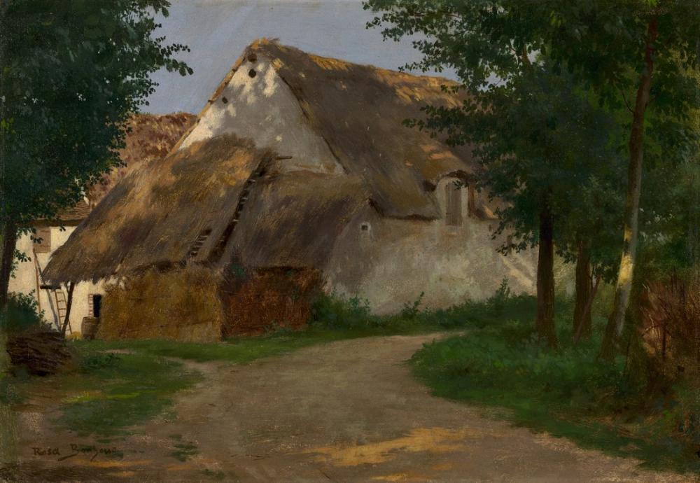 Rosa Bonheur, Ağaçlığın Girişindeki Çiftlik, Kanvas Tablo, Rosa Bonheur, kanvas tablo, canvas print sales