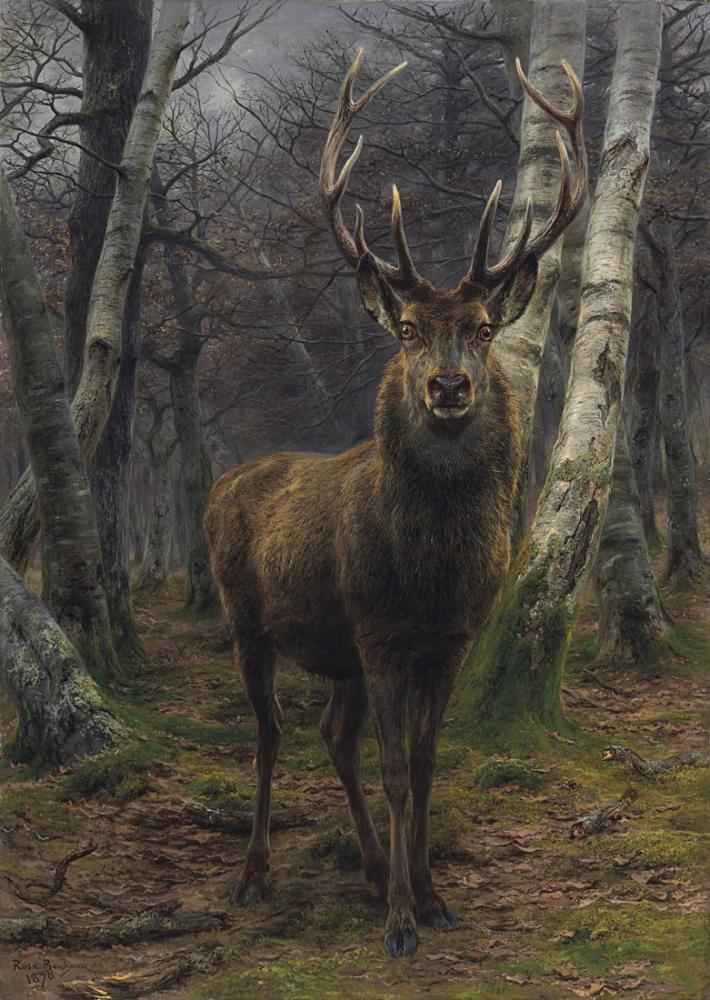 Rosa Bonheur, Ormanın Kralı, Kanvas Tablo, Rosa Bonheur, kanvas tablo, canvas print sales