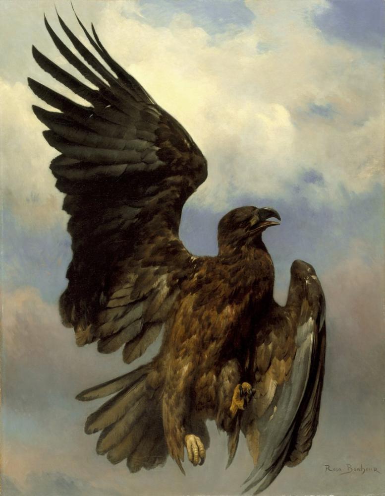 Rosa Bonheur, The Wounded Eagle, Canvas, Rosa Bonheur, kanvas tablo, canvas print sales