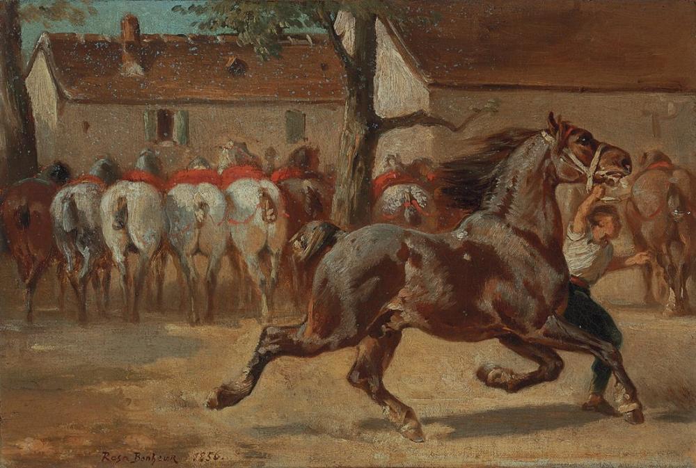 Rosa Bonheur, Bir Atı Tırısa Kaldırmak, Kanvas Tablo, Rosa Bonheur, kanvas tablo, canvas print sales