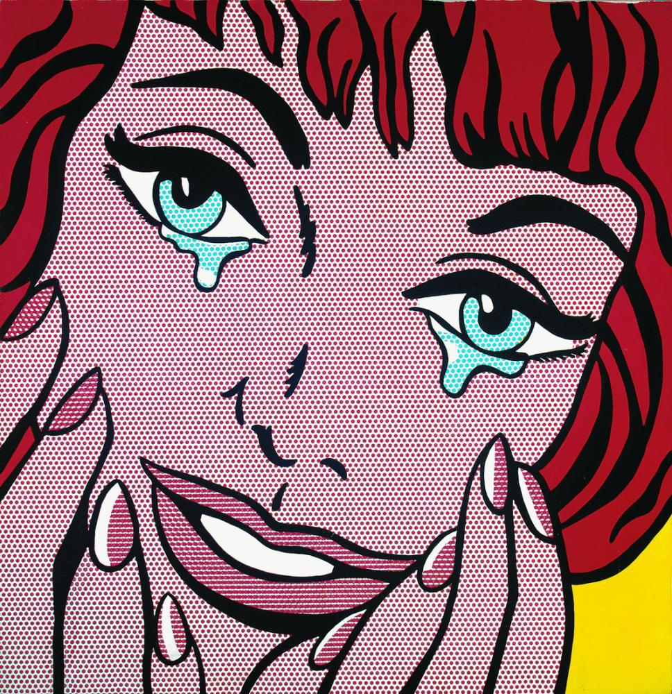 Roy Lichtenstein, Happy Tears, Figure, Cecilia Beaux, kanvas tablo, canvas print sales