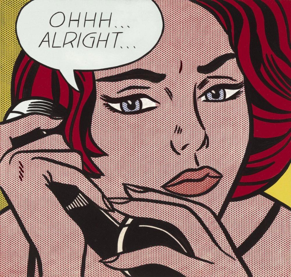 Roy Lichtenstein, ohhh tamam, Figür, Roy Lichtenstein, kanvas tablo, canvas print sales
