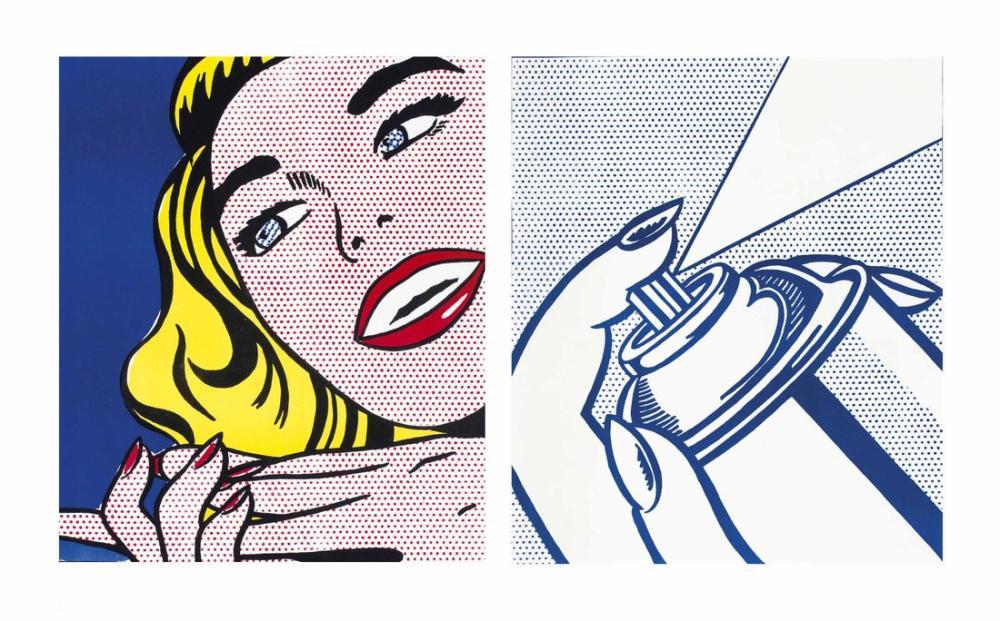Roy Lichtenstein, Bir Kuruş Hayattan Sprey Kutusu, Figür, Roy Lichtenstein, kanvas tablo, canvas print sales