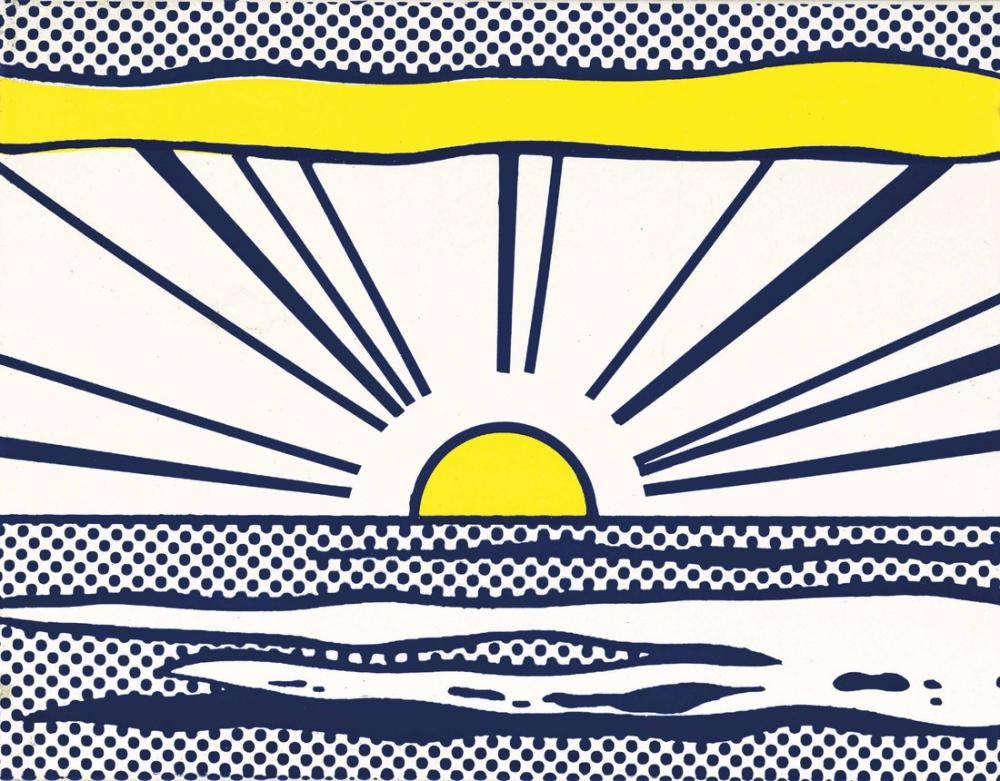 Roy Lichtenstein, Gündoğumu 1965, Figür, Roy Lichtenstein, kanvas tablo, canvas print sales