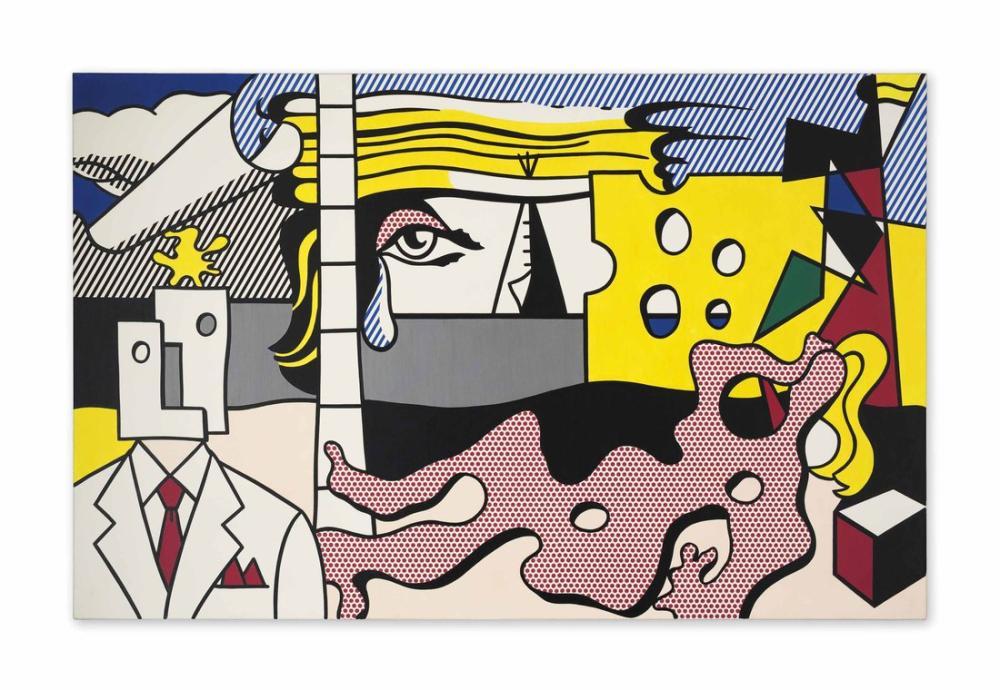 Roy Lichtenstein, Figürler ile Manzara, Figür, Roy Lichtenstein, kanvas tablo, canvas print sales