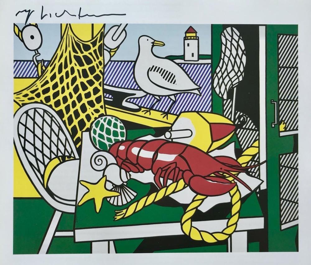 Roy Lichtenstein, Cape Cod Still Life, Figure, Roy Lichtenstein, kanvas tablo, canvas print sales
