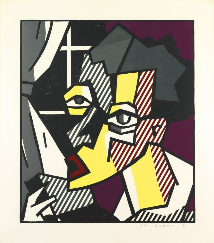 Roy Lichtenstein, Dışavurumcu Gravür Serisi, Figür, Roy Lichtenstein, kanvas tablo, canvas print sales
