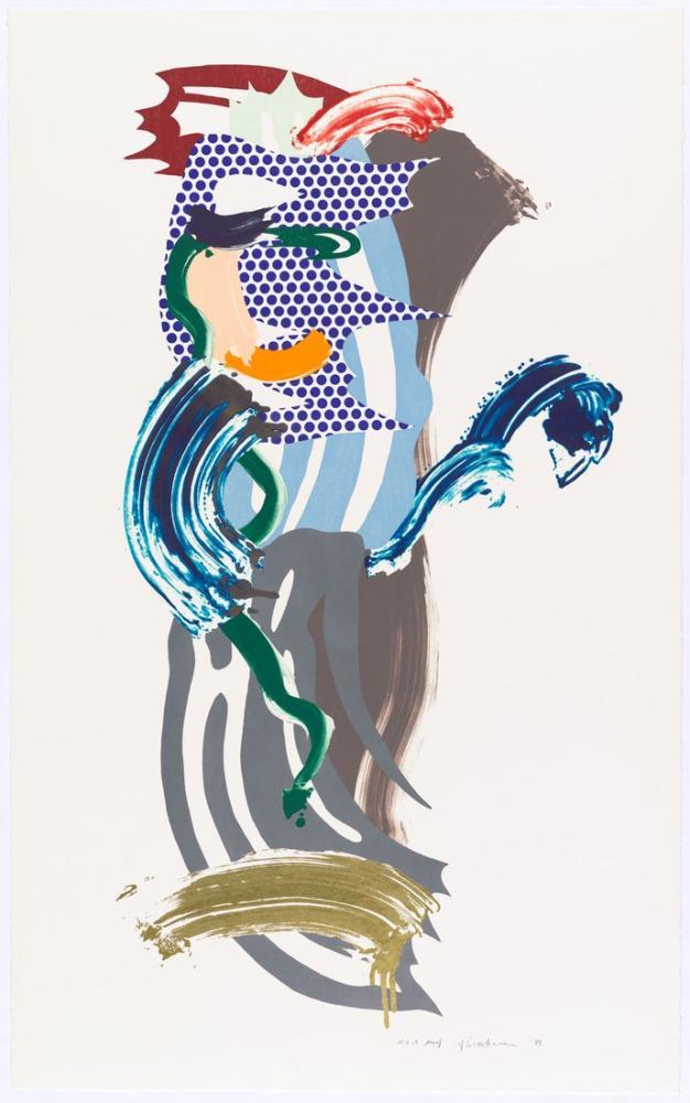 Roy Lichtenstein, Mavi Yüz, Figür, Roy Lichtenstein, kanvas tablo, canvas print sales