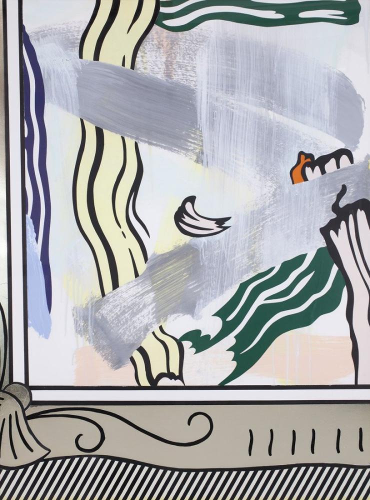Roy Lichtenstein, Altın Çerçeve Boyama, Figür, Roy Lichtenstein, kanvas tablo, canvas print sales
