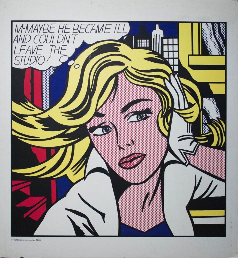 Roy Lichtenstein, The Surprising, Figure, Roy Lichtenstein, kanvas tablo, canvas print sales