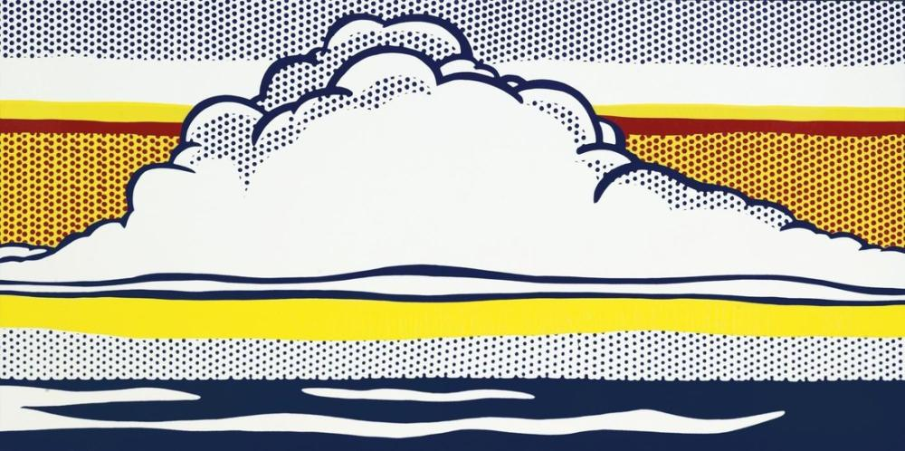Roy Lichtenstein, Bulut ve Deniz, Figür, Roy Lichtenstein, kanvas tablo, canvas print sales