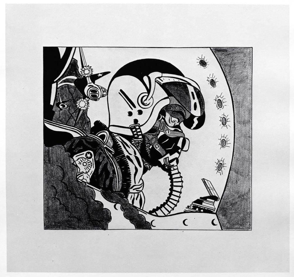 Roy Lichtenstein, Jet Pilotu, Figür, Roy Lichtenstein, kanvas tablo, canvas print sales