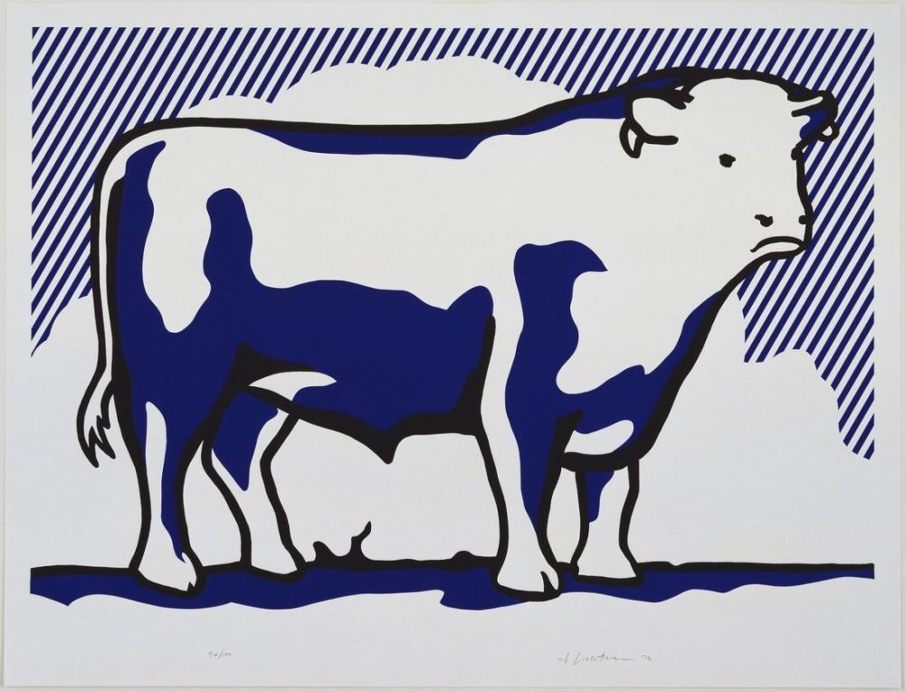 Roy Lichtenstein, Boğa Profil Serisi, Figür, Roy Lichtenstein, kanvas tablo, canvas print sales