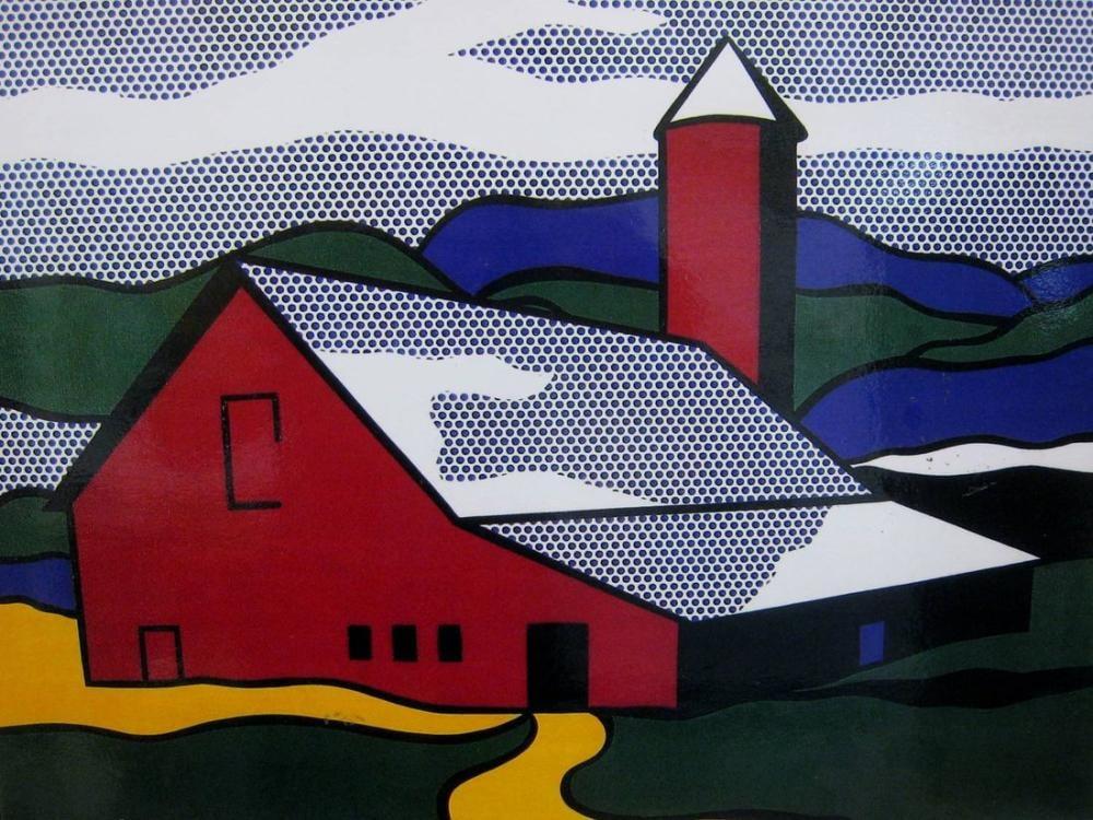 Roy Lichtenstein, Kırmızı Ahır II, Figür, Roy Lichtenstein, kanvas tablo, canvas print sales