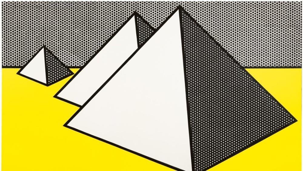 Roy Lichtenstein, Piramitler, Figür, Roy Lichtenstein, kanvas tablo, canvas print sales