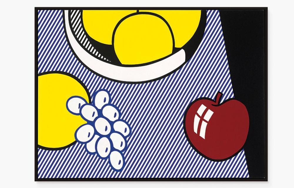 Roy Lichtenstein, Elma Üzüm Greyfurt Başlıca, Figür, Roy Lichtenstein, kanvas tablo, canvas print sales
