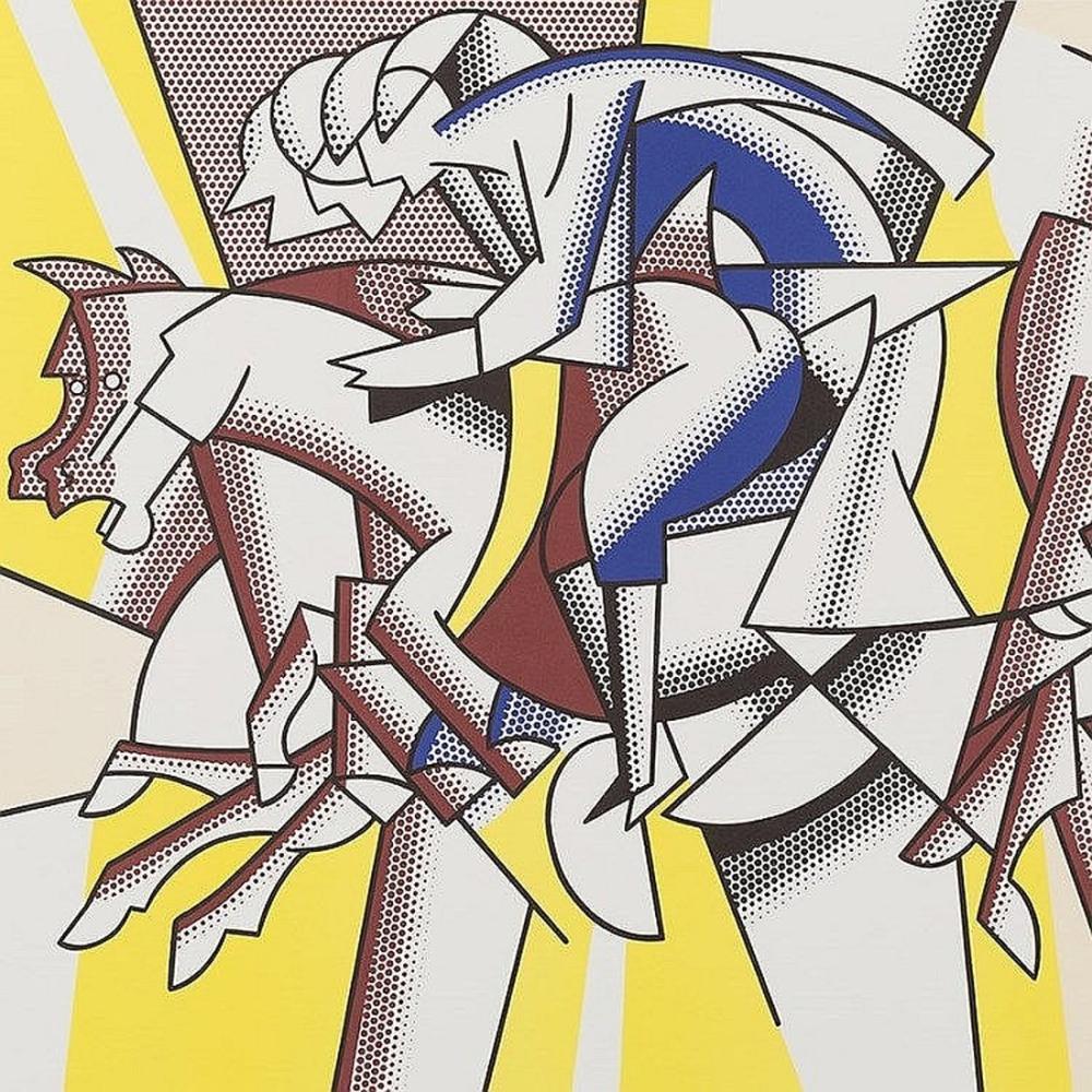 Roy Lichtenstein, Kırmızı Süvari, Figür, Roy Lichtenstein, kanvas tablo, canvas print sales